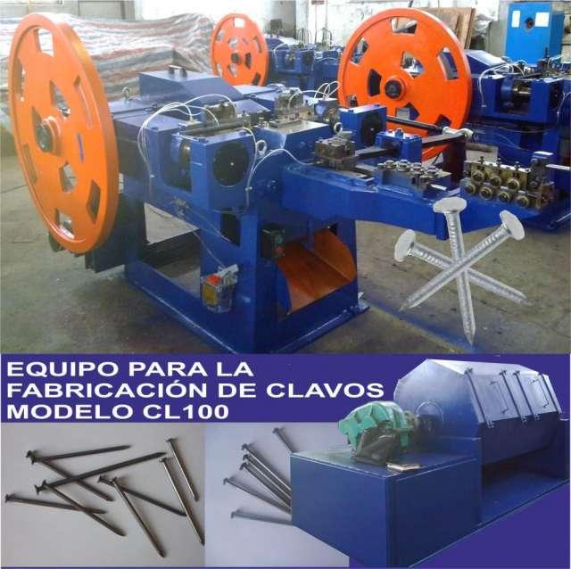 Maquina automática para la fabricación de clavos