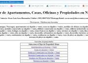 Buscador de Apartamentos, Casas, Oficinas y Propiedades en Nicaragua