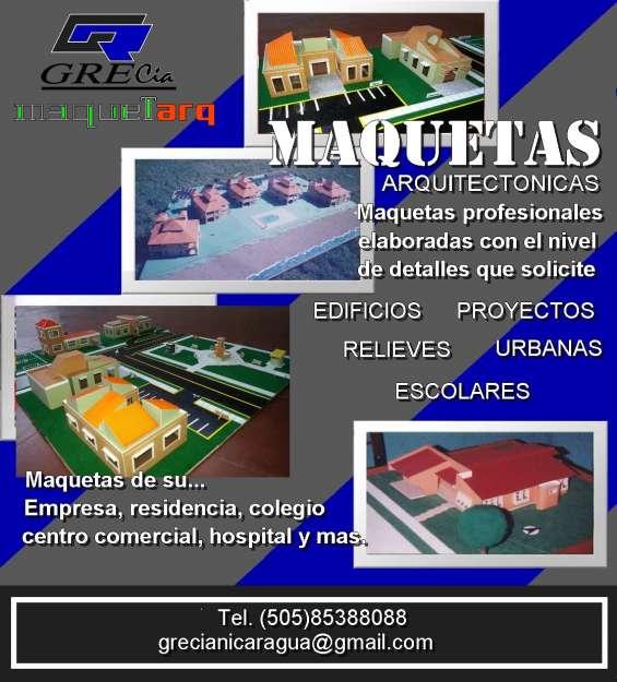 Maquetas arquitectonicas nicaragua